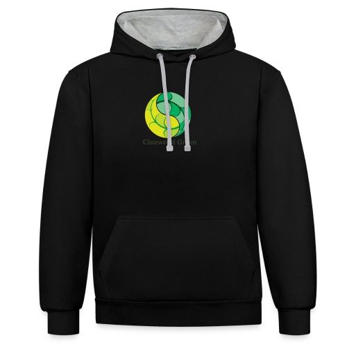 Cinewood Green - Contrast Colour Hoodie