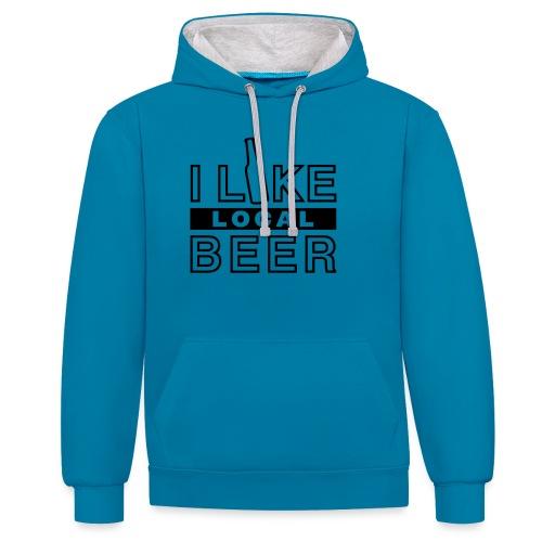 I Like Local Beer (swity) - Kontrast-Hoodie