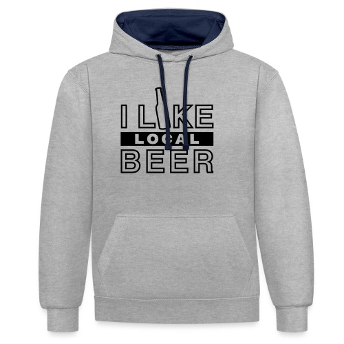 I Like Local Beer (swity) - Kontrast-Hoodie