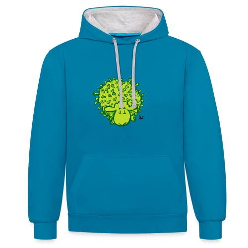 Mouton Virus - Sweat-shirt contraste
