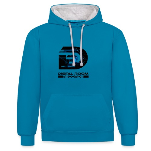 Digital Room Records Official Logo effect - Contrast Colour Hoodie