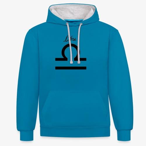 Libra Sternzeichen T-Shirt - Kontrast-Hoodie