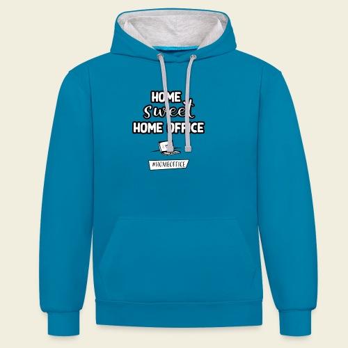Home sweet Home Office - Kontrast-Hoodie