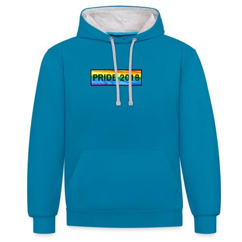 Pride 2018 long design - Contrast Colour Hoodie