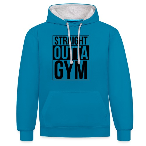 Straight Outta Gym Design. - Contrast Colour Hoodie