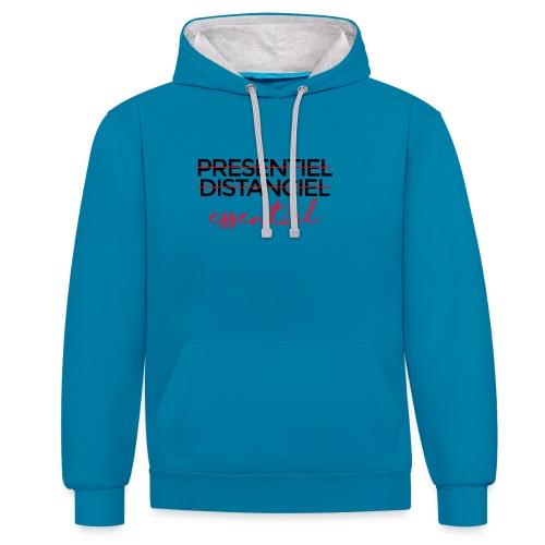 Présentiel Distanciel Essentiel - Sweat-shirt contraste