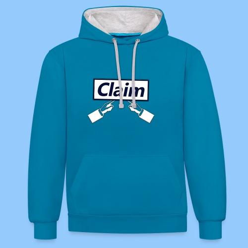 Claim Logo - Kontrast-Hoodie