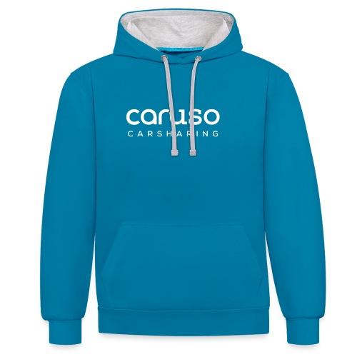Caruso Carsharing Logo w - Kontrast-Hoodie