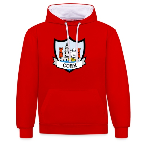 Cork - Eire Apparel - Contrast Colour Hoodie