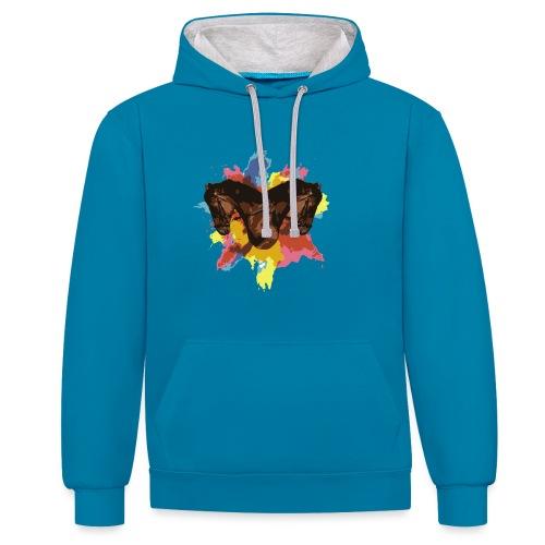 Cheval coloré - Sweat-shirt contraste