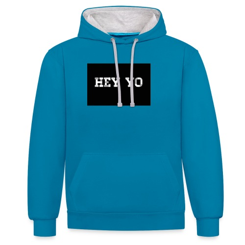 Hey yo - Sweat-shirt contraste