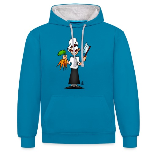 The vegetarian chef - Contrast Colour Hoodie