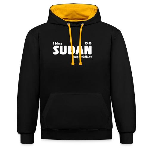 supatrüfö SUDAN - Kontrast-Hoodie