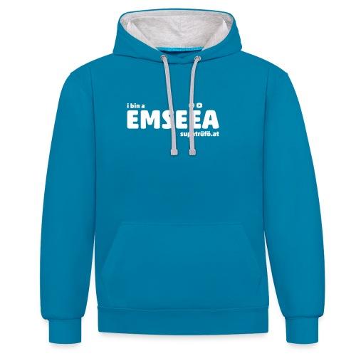 supatrüfö EMSEEA - Kontrast-Hoodie