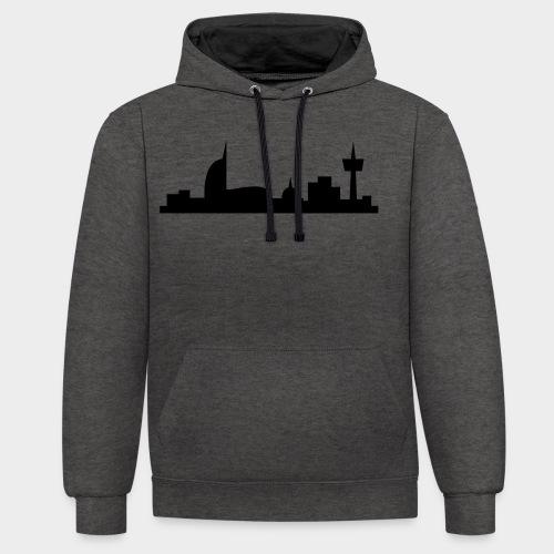 Bremerhaven Skyline V2016 Full - Kontrast-Hoodie