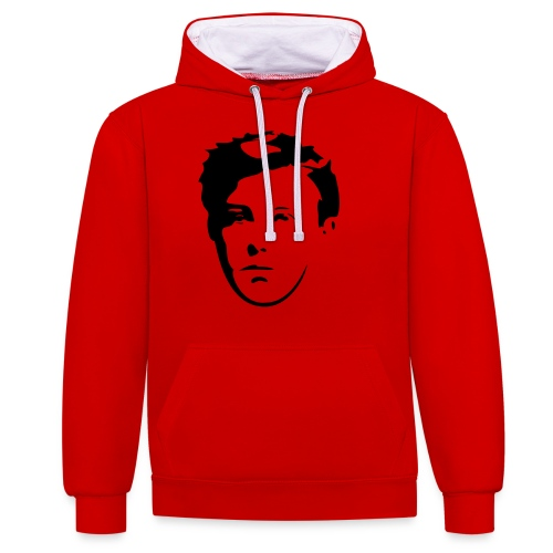 Arthur Rimbaud visage - Sweat-shirt contraste
