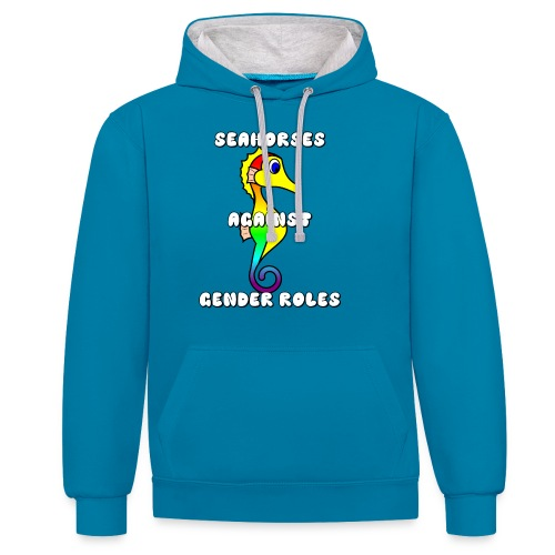 Seahorses against gender roles - Contrast Colour Hoodie