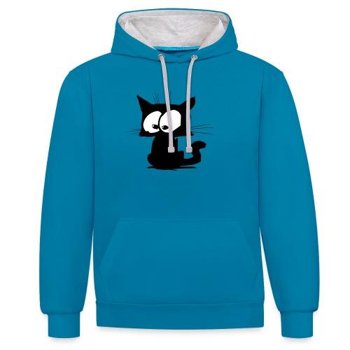 Black Cat 01 - Sweat-shirt contraste