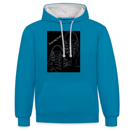 Long way to go - Contrast Colour Hoodie