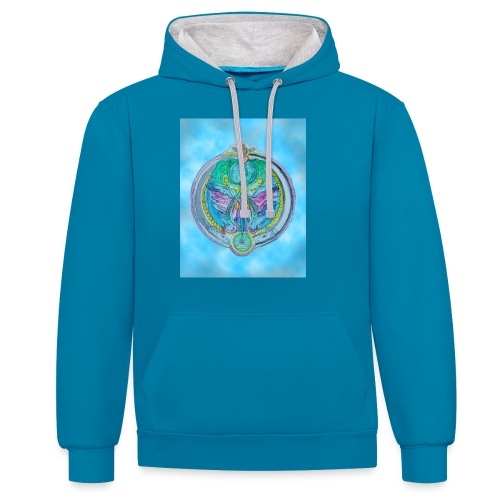 Mother Earth - Kontrast-Hoodie