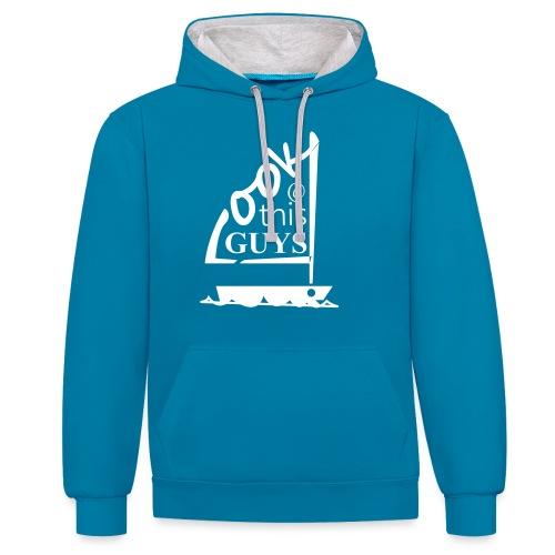 Look At This Guys ! - Contrast hoodie
