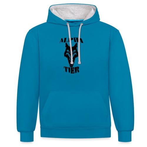 T- Shirt Alpha Tier - Kontrast-Hoodie