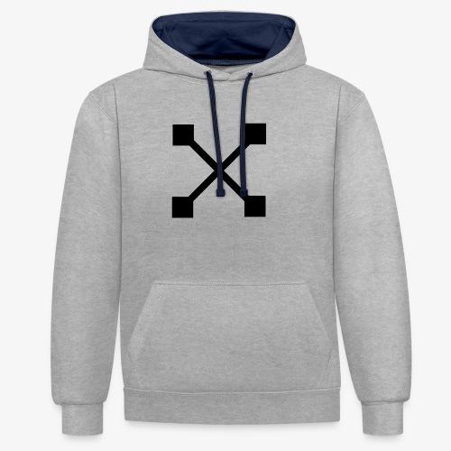 X BLK - Kontrast-Hoodie