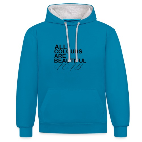 All Colours Are Beautiful ACAB - Kontrast-Hoodie
