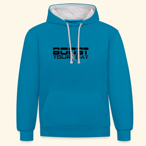 boost your day - Kontrast-Hoodie
