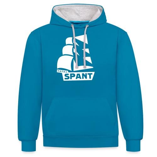 SPANT logo zwart - Contrast hoodie