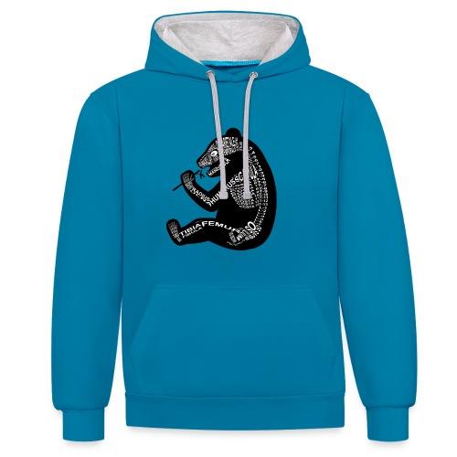 Panda skelet - Contrast hoodie