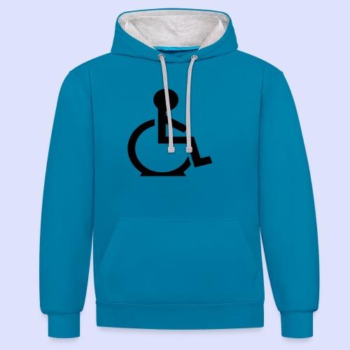 Rolstoel gebruiker met platte band - Contrast hoodie