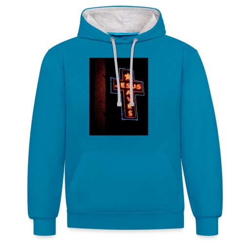 Jesus Saves - Contrast Colour Hoodie