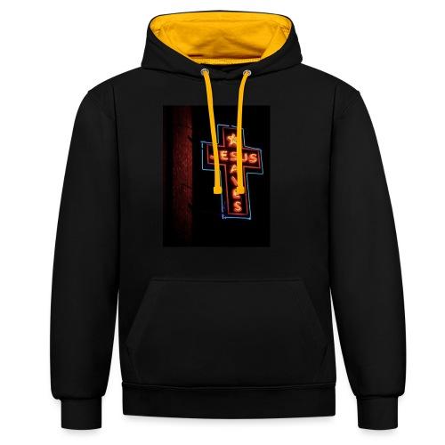 Jesus Saves - Contrast Colour Hoodie