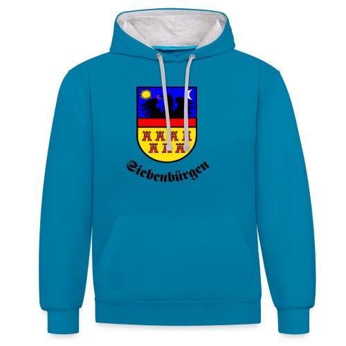 Siebenbürgen-Wappen Siebenbürgen - Kontrast-Hoodie