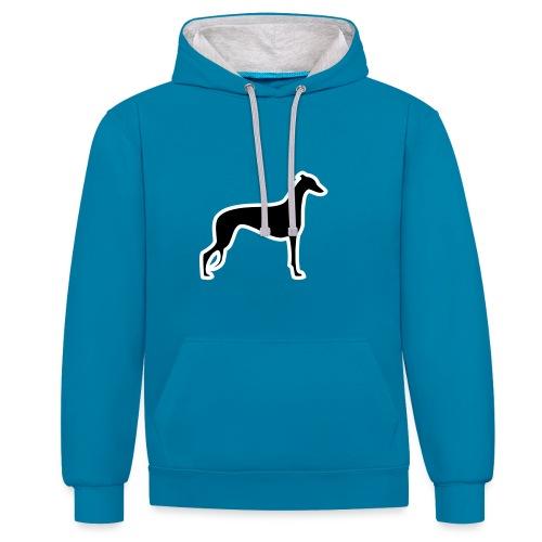 Greyhound - Kontrast-Hoodie