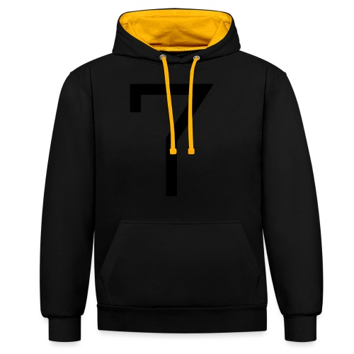 7 - Contrast Colour Hoodie