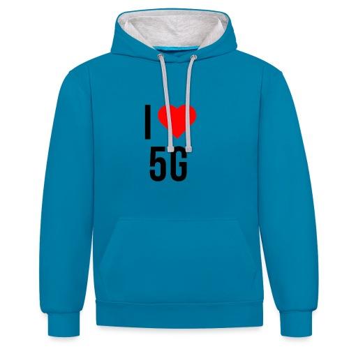 ilove5g - Kontrast-Hoodie