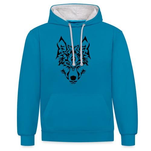 Tribal Wolf - Sweat-shirt contraste