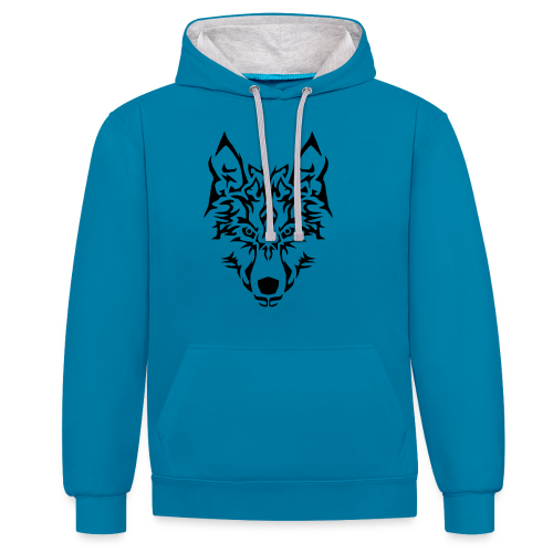Tribal Wolf - Sweat-shirt contraste