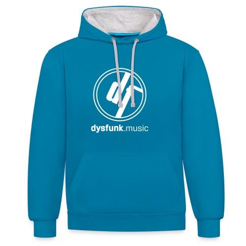 logo dysfunk weiß - Contrast Colour Hoodie