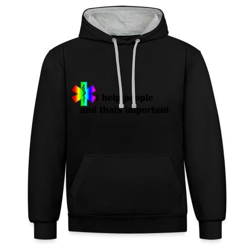 i help people - Contrast hoodie