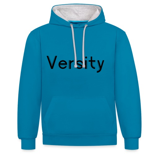 Versity Original Transparent logo - Contrast Colour Hoodie