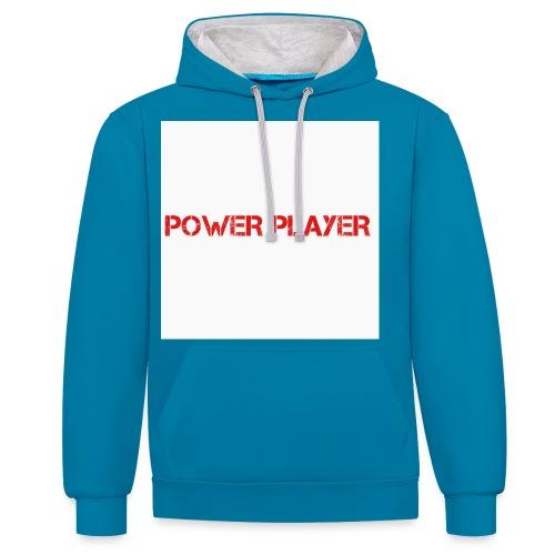Linea power player - Felpa con cappuccio bicromatica
