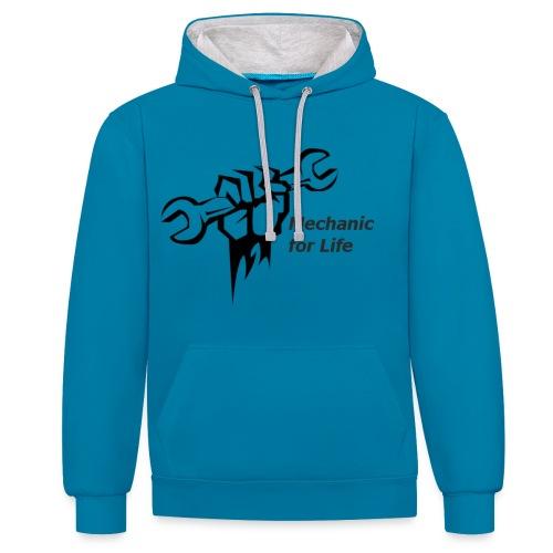 monteur voor het leven - Contrast hoodie