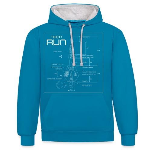 NeonRun - Contrast hoodie