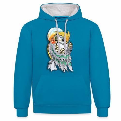Cosmic owl - Sudadera con capucha en contraste