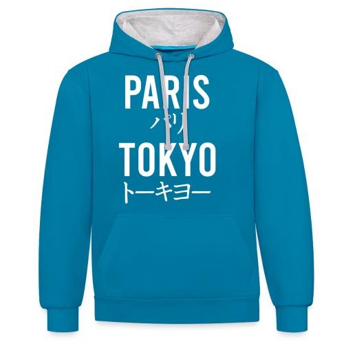 paris tokyo - Sweat-shirt contraste