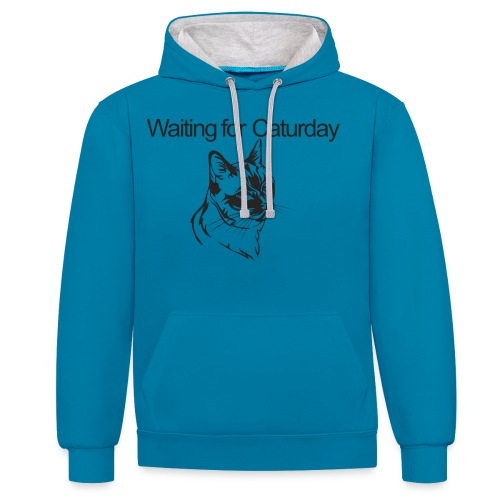Caturday - Contrast Colour Hoodie