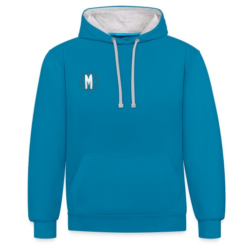 M png - Contrast Colour Hoodie